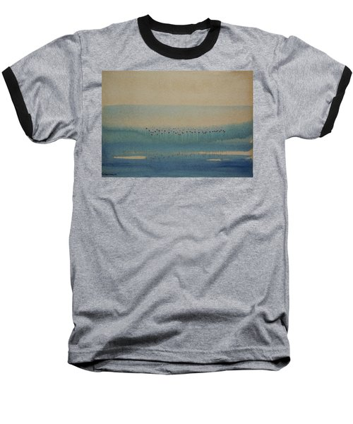 Baseball T-Shirt featuring the painting Loch Of My Heart by Mini Arora