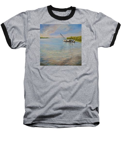 Baseball T-Shirt featuring the painting Locked by AnnaJo Vahle