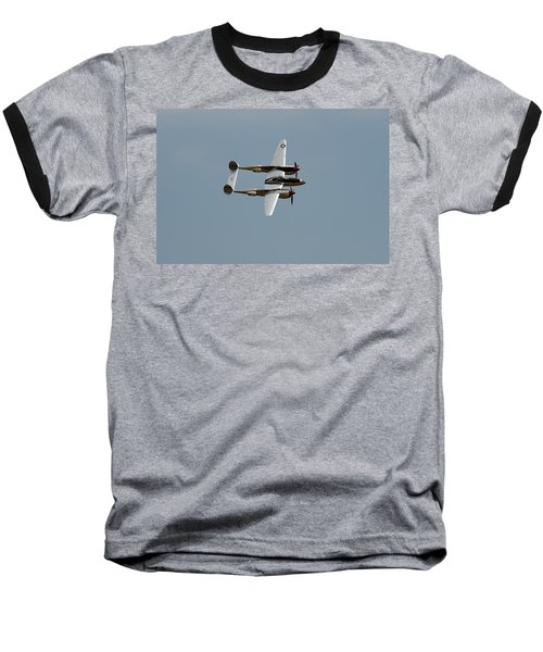 Lockheed P 38 Lightning Baseball T-Shirt by Richard J Cassato