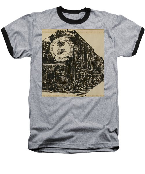 Locomotive Study Baseball T-Shirt
