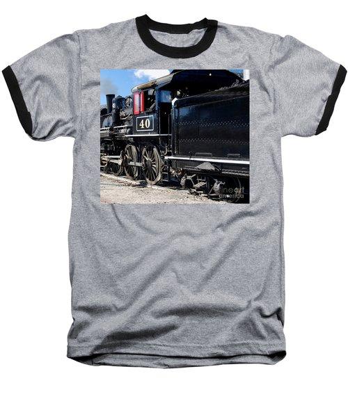 Baseball T-Shirt featuring the photograph Locomotive With Tender by Gunter Nezhoda