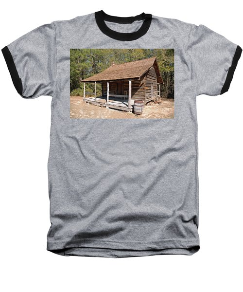 Baseball T-Shirt featuring the photograph Log Cabin by Charles Beeler