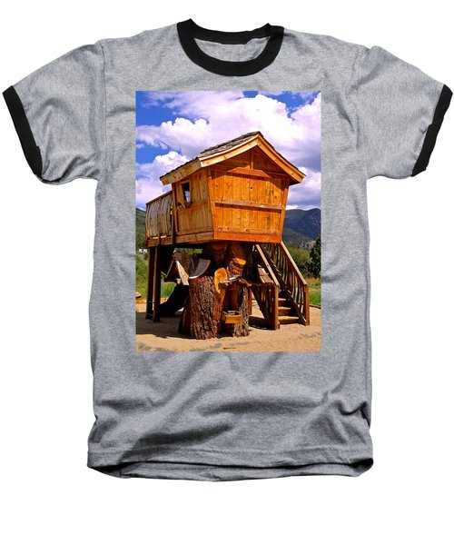 Log Cabin Penthouse Baseball T-Shirt