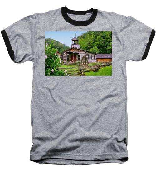 Log Church Baseball T-Shirt