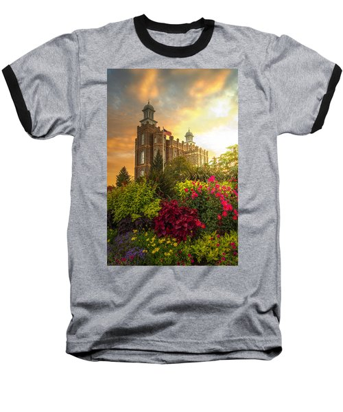 Logan Temple Garden Baseball T-Shirt