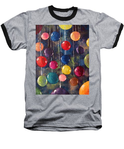 Baseball T-Shirt featuring the painting Lollipops Or Balloons? by Megan Walsh