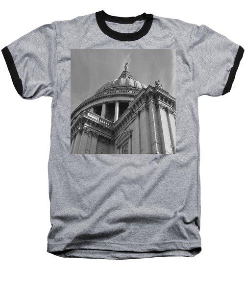 London St Pauls Cathedral Baseball T-Shirt by Cheryl Miller