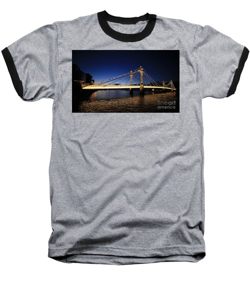 London Albert Bridge  Baseball T-Shirt by Mariusz Czajkowski