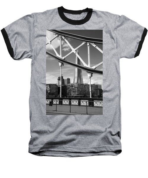 Baseball T-Shirt featuring the photograph London Bridge With The Shard by Chevy Fleet