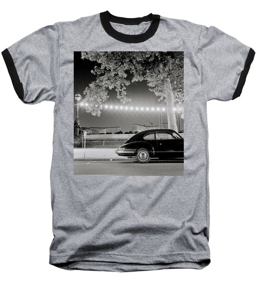 Porsche In London Baseball T-Shirt by Shaun Higson