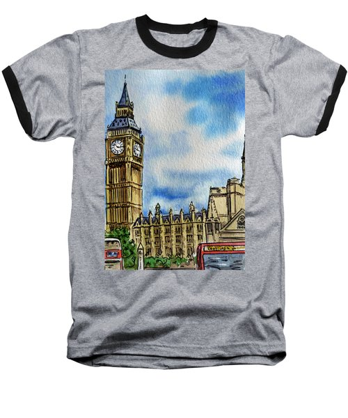 London England Big Ben Baseball T-Shirt