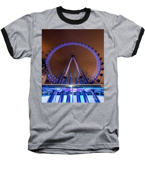 London Eye Supports Baseball T-Shirt by Matt Malloy