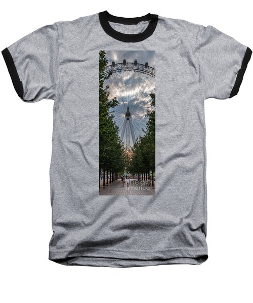 London Eye Vertical Panorama Baseball T-Shirt