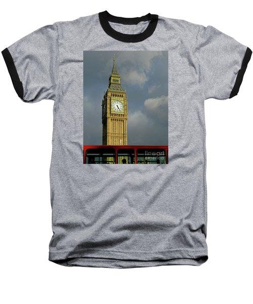 London Icons Baseball T-Shirt by Ann Horn