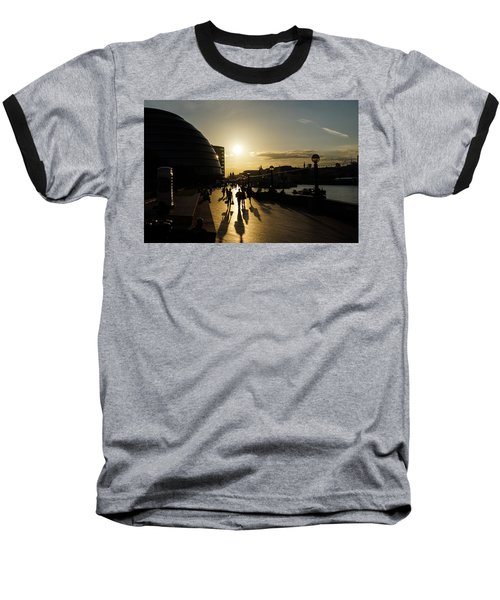 Baseball T-Shirt featuring the photograph London Silhouettes  by Georgia Mizuleva