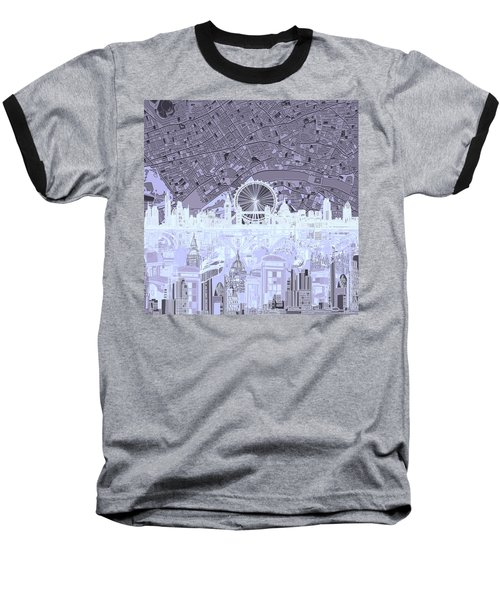 London Skyline Abstract 10 Baseball T-Shirt
