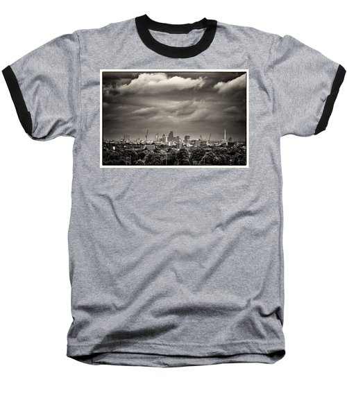 London Skyline From Hampstead Heath Baseball T-Shirt