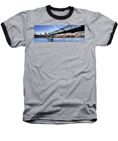 Millennium Bridge London 1 Baseball T-Shirt by Rod McLean