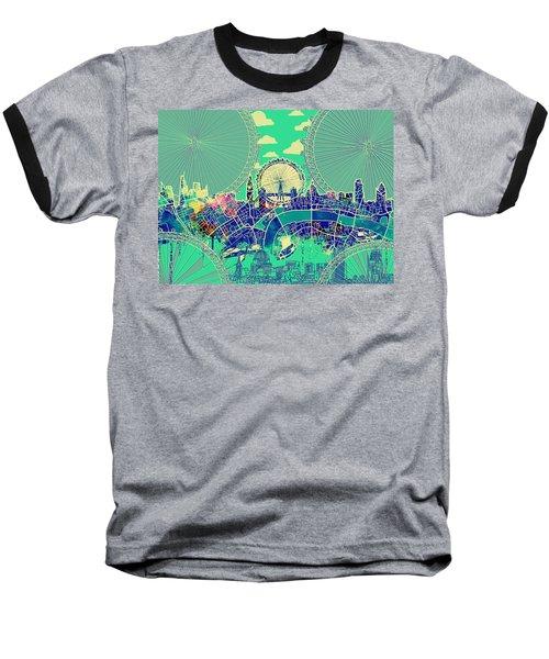 London Skyline Vintage 2 Baseball T-Shirt