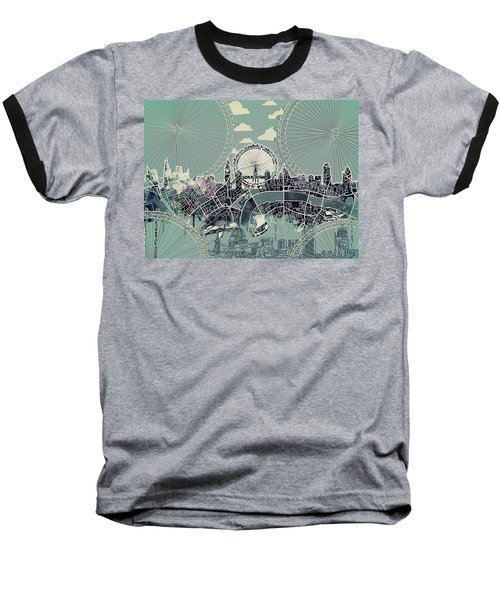 London Skyline Vintage Baseball T-Shirt