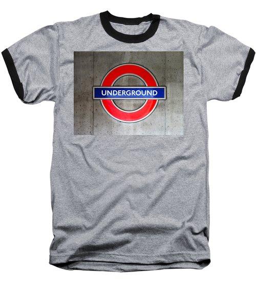 London Underground Sign Baseball T-Shirt