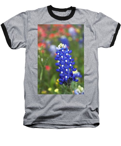 Lone Bluebonnet Baseball T-Shirt