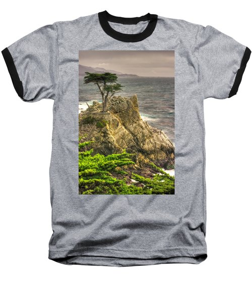 Lone Cypress On The Monterey Peninsula - No. 1 Looking Across Carmel Bay Spring Mid-afternoon Baseball T-Shirt