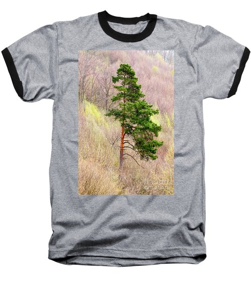 Baseball T-Shirt featuring the photograph Lone Pine by Les Palenik