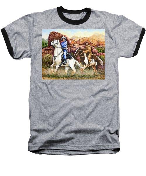 Lone Ranger And Tonto Ride Again Baseball T-Shirt