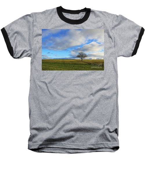 Lone Tree At Epsom Downs Uk Baseball T-Shirt
