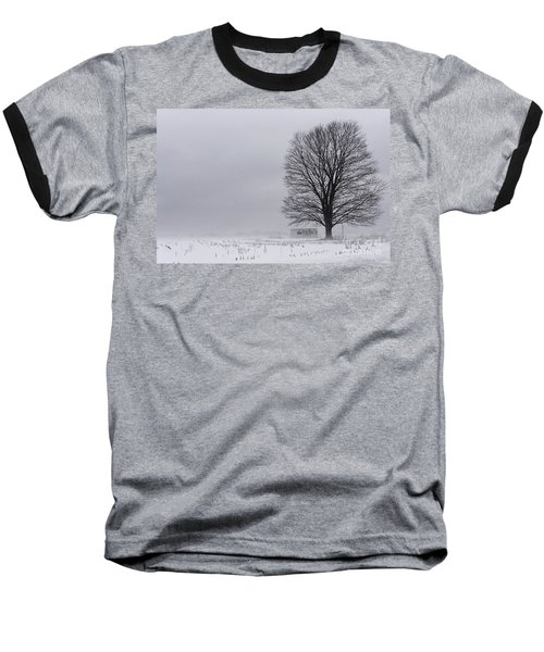 Lone Tree In The Fog Baseball T-Shirt