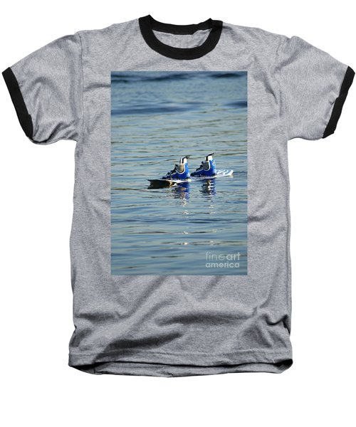 Lone Wakeboard Baseball T-Shirt by DejaVu Designs
