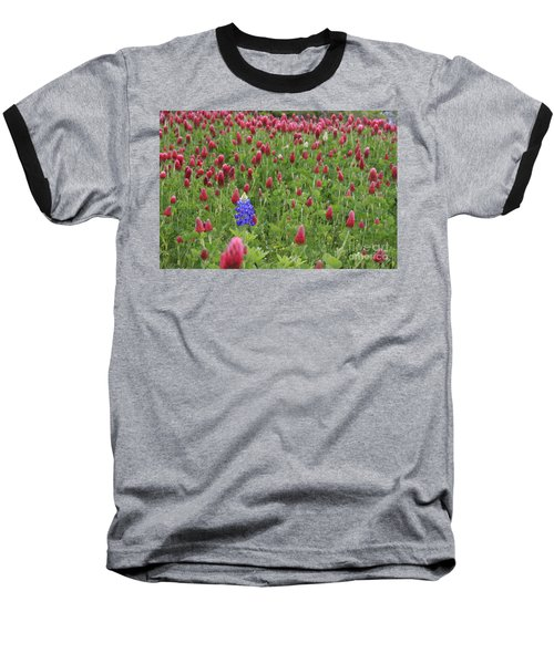 Lonely Bluebonnet Baseball T-Shirt by Jerry Bunger