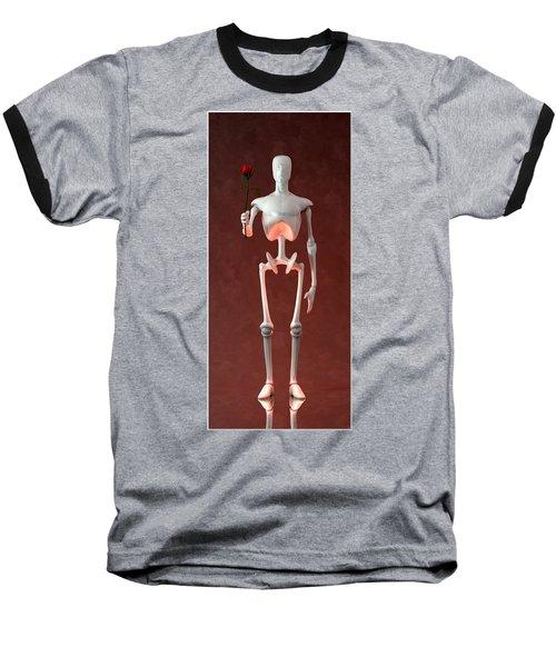 Baseball T-Shirt featuring the digital art Lonely Robot... by Tim Fillingim