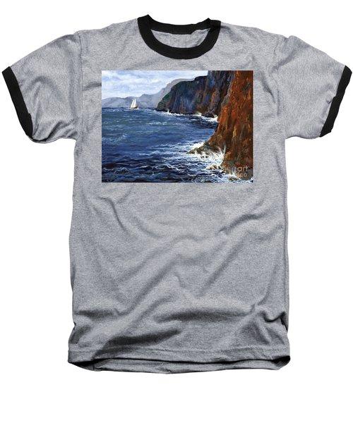 Lonely Schooner Baseball T-Shirt