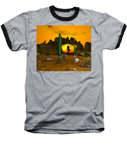 Baseball T-Shirt featuring the digital art Lonesome Dove by Jacqueline Lloyd