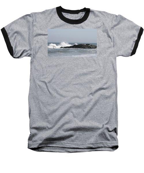 Long Beach Jetty Baseball T-Shirt
