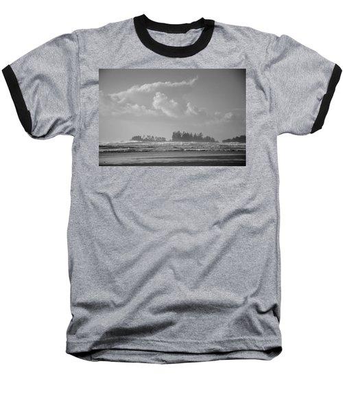 Long Beach Landscape  Baseball T-Shirt by Roxy Hurtubise