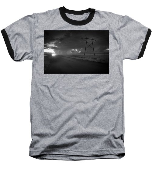 Baseball T-Shirt featuring the photograph Long Road Home by Bradley R Youngberg
