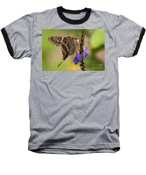 Baseball T-Shirt featuring the photograph Long-tailed Skipper Photo by Meg Rousher