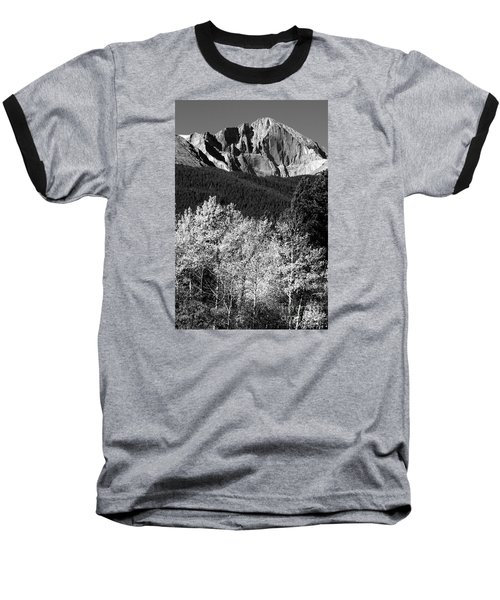 Longs Peak 14256 Ft Baseball T-Shirt by James BO  Insogna