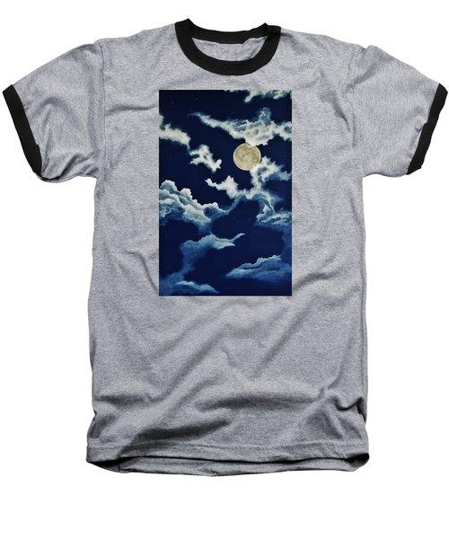 Look At The Moon Baseball T-Shirt