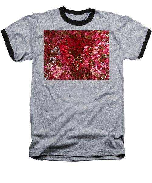 Look Deep Into My Heart Baseball T-Shirt by David Pantuso
