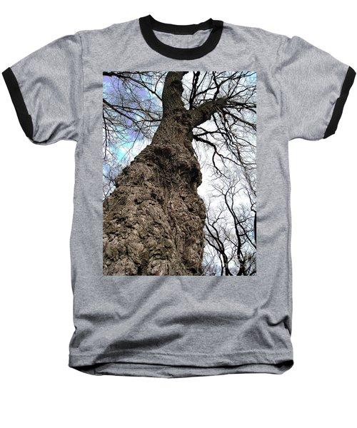 Baseball T-Shirt featuring the photograph Look Up Look Way Up by Nina Silver