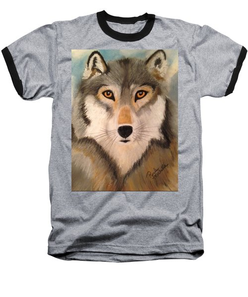 Looking At A Timber Wolf Baseball T-Shirt