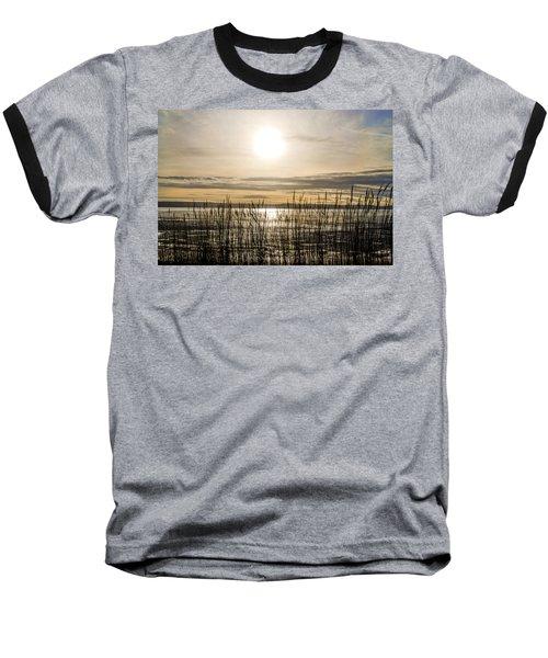 Looking At Wales Through The Grass Baseball T-Shirt