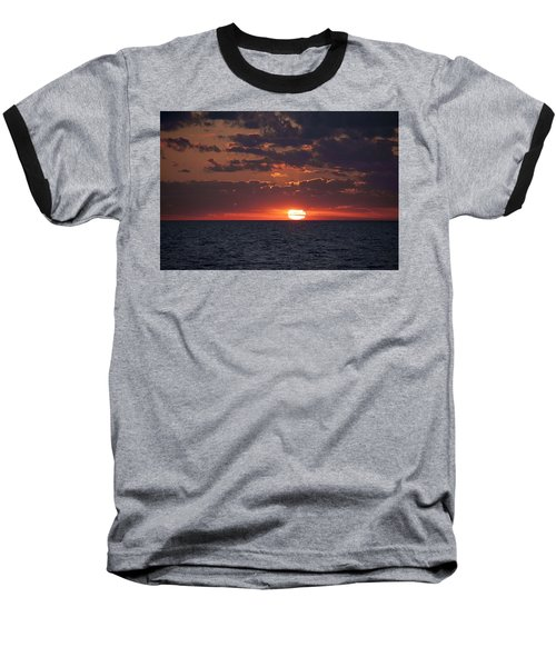 Looking Back In Time Baseball T-Shirt by Daniel Sheldon