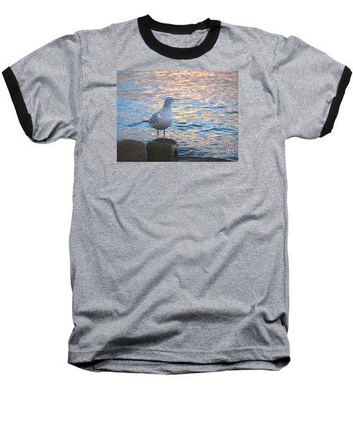 Looking Back Baseball T-Shirt by Susan  Dimitrakopoulos