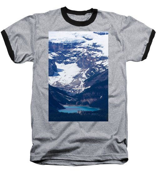 Looking Down At Lake Louise #2 Baseball T-Shirt