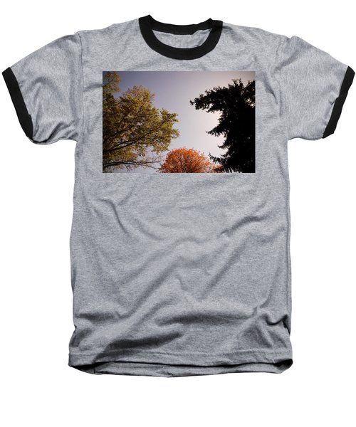 Baseball T-Shirt featuring the photograph Looking Down On Us by Photographic Arts And Design Studio